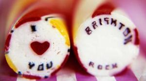 Sticks of sweet Brighton rock