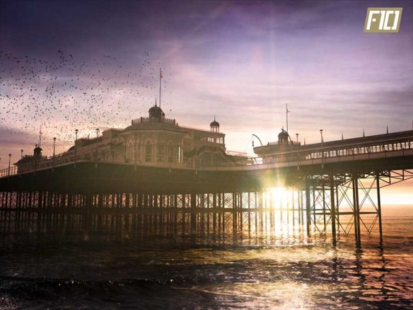 Brighton once state-of-the-art West Pier, opened in 1866 but closed and subsequently left to ruin in 1975.