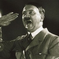 A still of Hitler from a Nazi newsreel, like those seen by Tally in the novel.