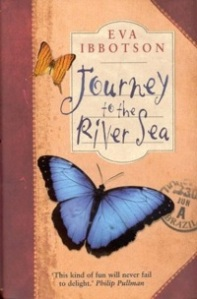"Eva Ibbotson's ""Journey to the River Sea"", one of my childhood favourites and winner of the Smarties Prize in 2001"